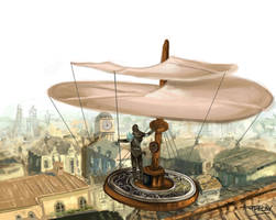 Draconian wars: Ornithopter by f4raday