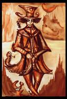 mad hatter in Dark wonderland by fantasticvolk