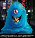 Alien Blob goes on tour