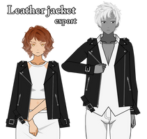 Leather jacket export by melisssenpai