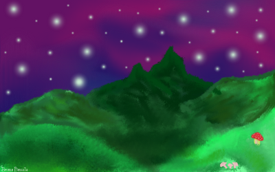 Mountain Landscape by thepastelalpaca