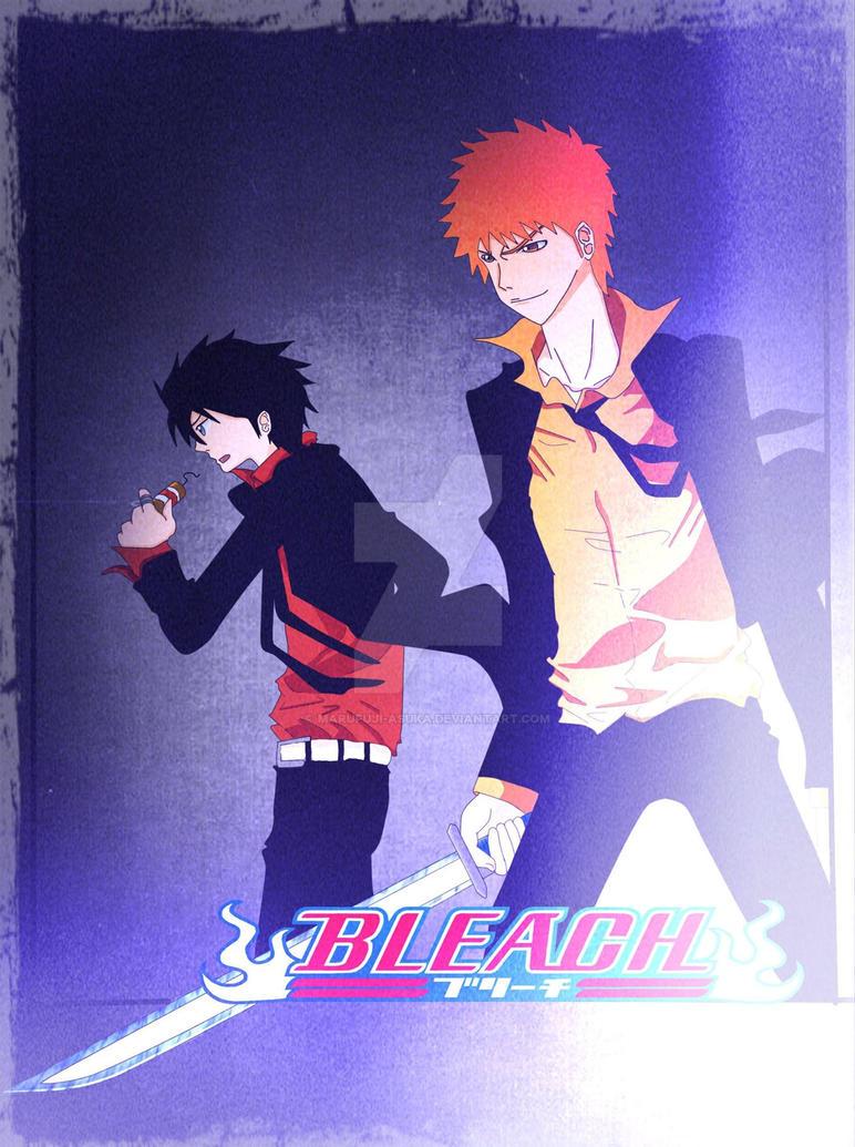 KHR x Bleach crossover by Marufuji-Asuka