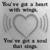 Lyric Icon: Heart With Wings by saiyan-queen-vega