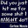 Icon: Carlose Mencia Quote 1 by saiyan-queen-vega