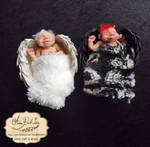 Dark Angel devil and Angel  newborn 01 by AnnaBellLeeArt