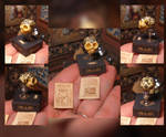 Miniature. Sorceress Queen tattooed skull 05