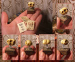 Miniature conjoined twins skulls 01 by AnnaBellLeeArt