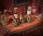 Skull Bottle 04 by AnnaBellLeeArt