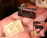 Miniature Black Unicorn Horn 04