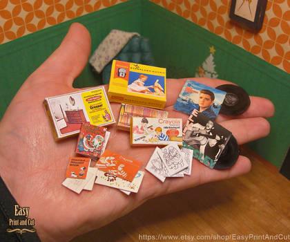 Printable Retro Vintage Christmas presents 01