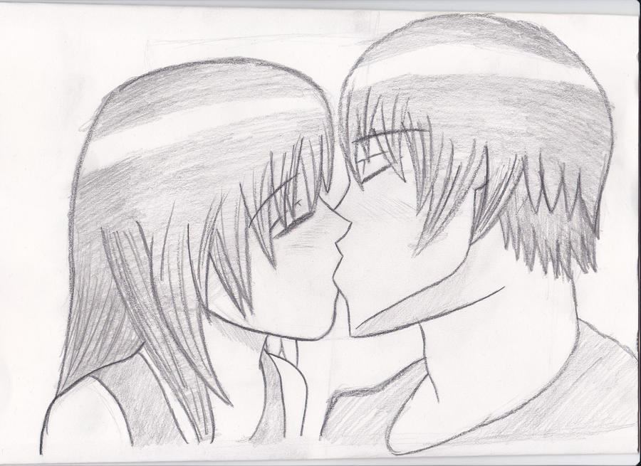 Anime Characters Kissing Drawing : Anime kissing scene by vintagepipboy on deviantart