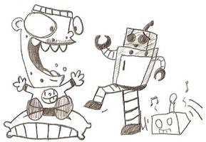 Robot Entertaining a R-----