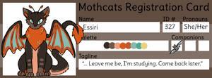 [Mothcats] Essiri's Registration Card