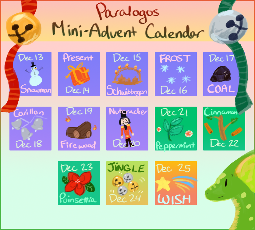 Paralogos: Mini-Advent Calendar [CLOSED!]