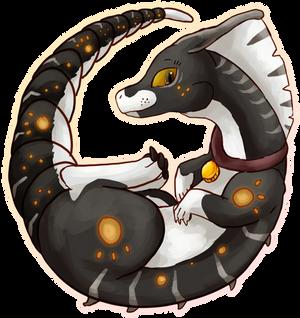 [Paralogos + Patreon Raffle Prize] Curled Dino by mewhaku