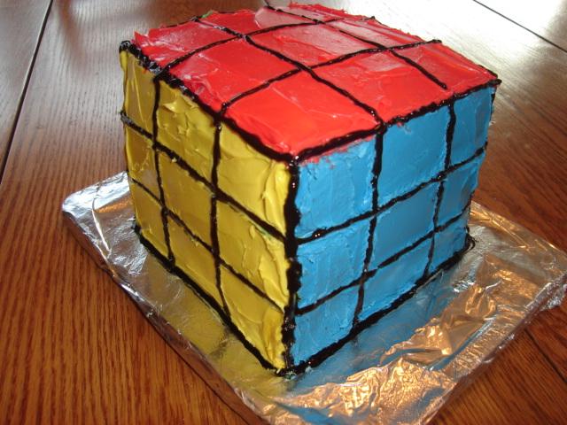 rubik s cube cake by sarenea on deviantart