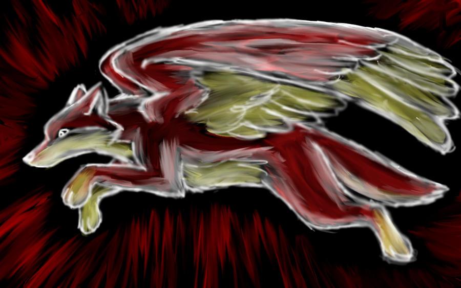 Element wolf: fire by Sarenea on deviantART