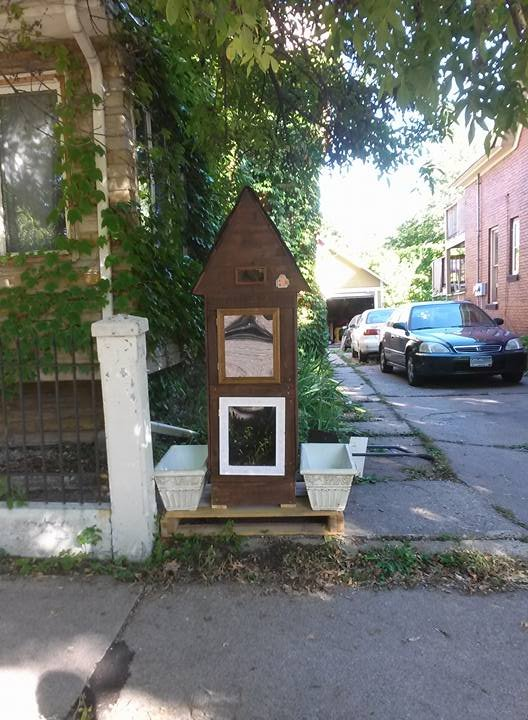 I built a little free library by in dis guise on deviantart - The mobile little house the shortest way to freedom ...