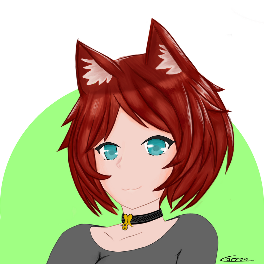 Red haired Neko by Carronplayer