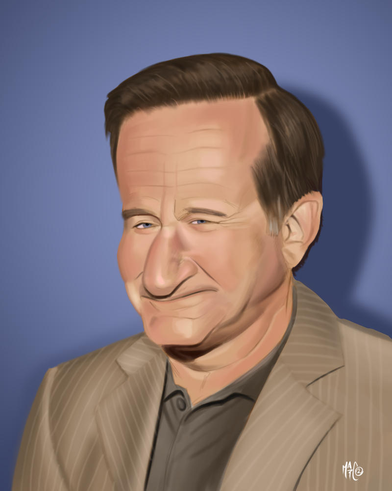 Robin Williams Caricature by Mattspaintings