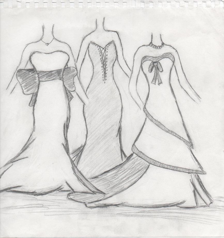 Sketches of Wedding Dress Designs