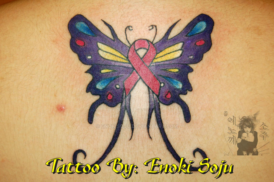 Butterfly Breast Tattoos Designs