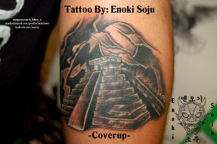 pyramid tattoo cover up covering name by enokisoju on deviantart. Black Bedroom Furniture Sets. Home Design Ideas
