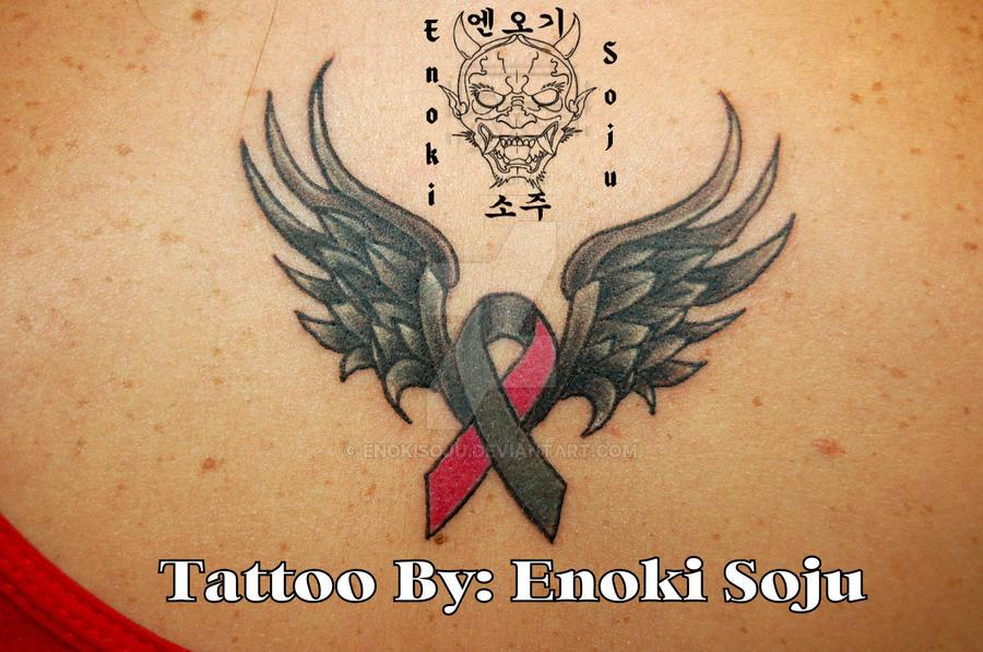 Breast Cancer Brain Cancer Ribbon Wwings Tattoo By Enokisoju On