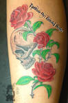 Skull and Roses Tattoo by Enoki Soju