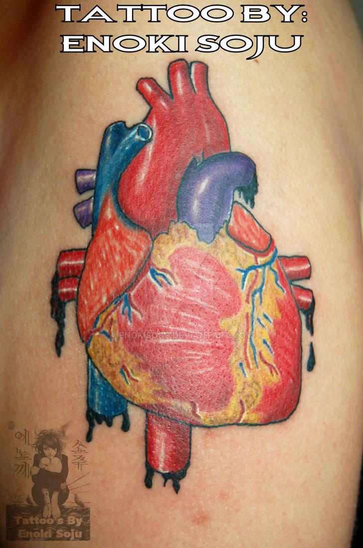 Anatomical Heart Tattoo by Enoki Soju by enokisoju on DeviantArt