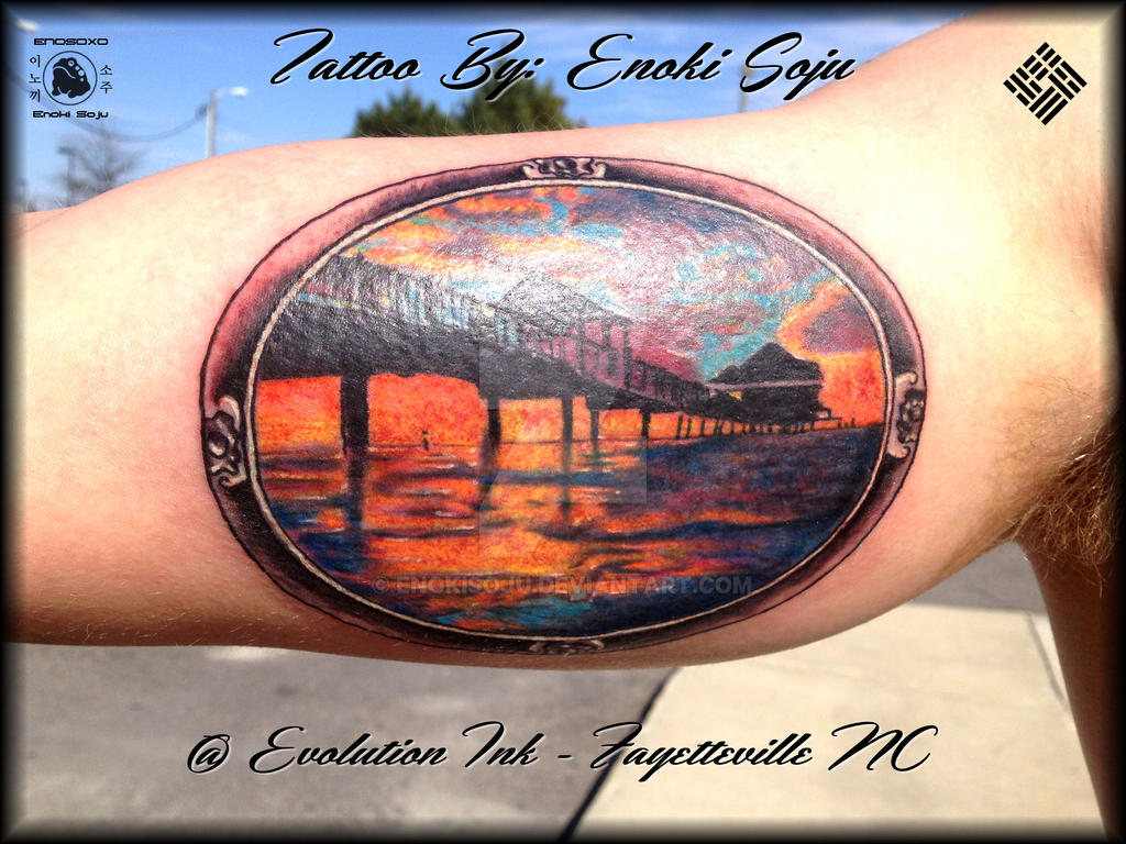 pier 92 st petersburg florida tattoo by enoki by