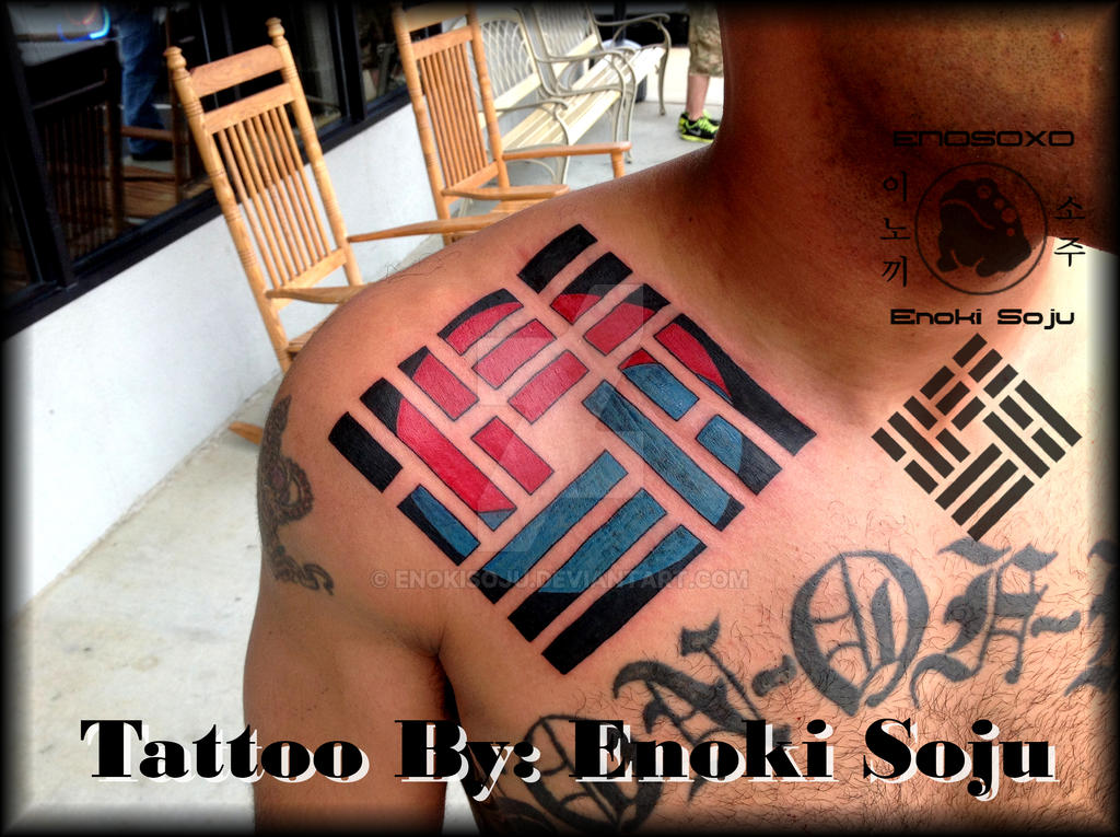 Custom Korean Logo Tattoo By Enoki Soju