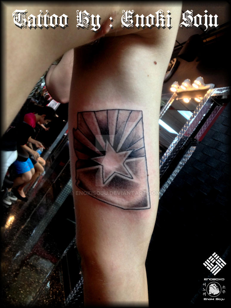 State of arizona flag tattoo by enoki soju by enokisoju on for State of the art tattoo