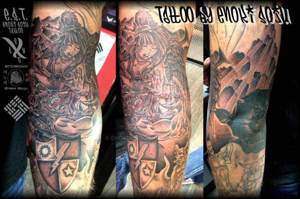 Good Vs Evil Tattoo By Enoki Soju By Enokisoju On Deviantart