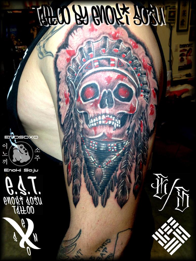 77dbd7f71 Dead Indian Skull Tattoo by Enoki Soju by enokisoju on DeviantArt