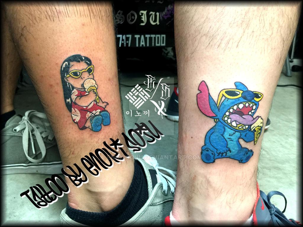 Jack and sally matching tattoos
