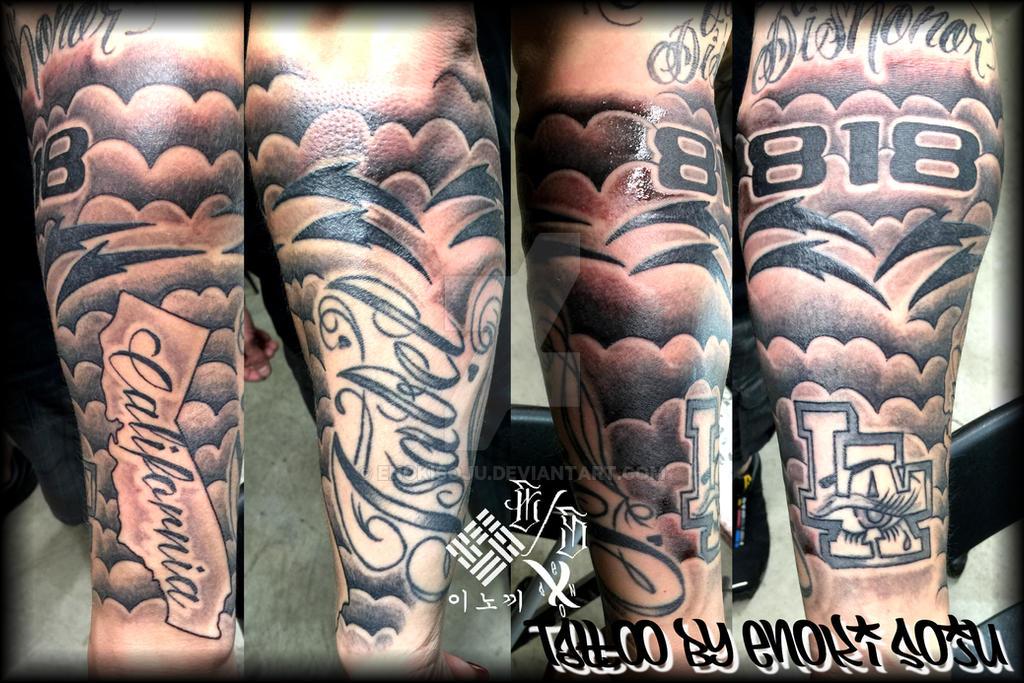Half Sleeve Tattoo by Enoki Soju by enokisoju on DeviantArt