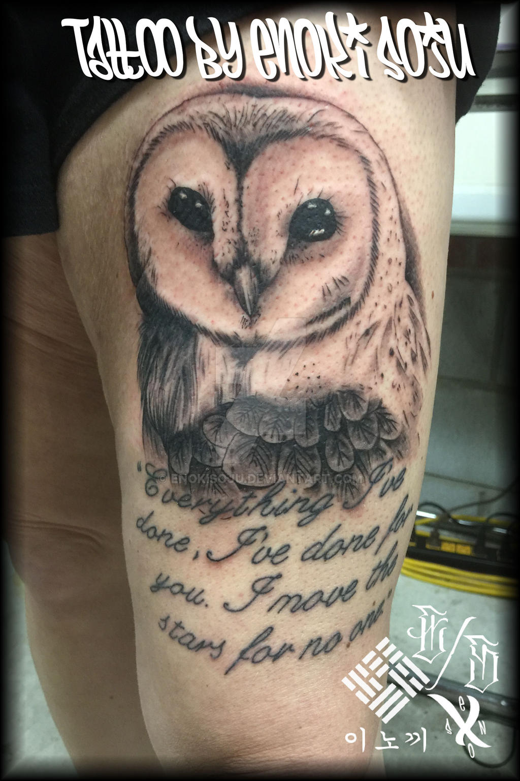 Labyrinth Owl Tattoo by Enoki Soju by enokisoju on DeviantArt Labyrinth Owl Tattoo