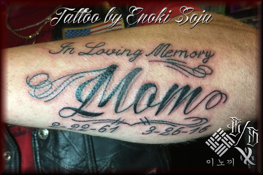 Memorial Mom Tattoo By Enoki Soju By Enokisoju On Deviantart