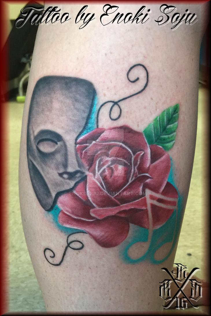 Custom Phantom Of The Opera Mask Rose Music Note By Enokisoju On
