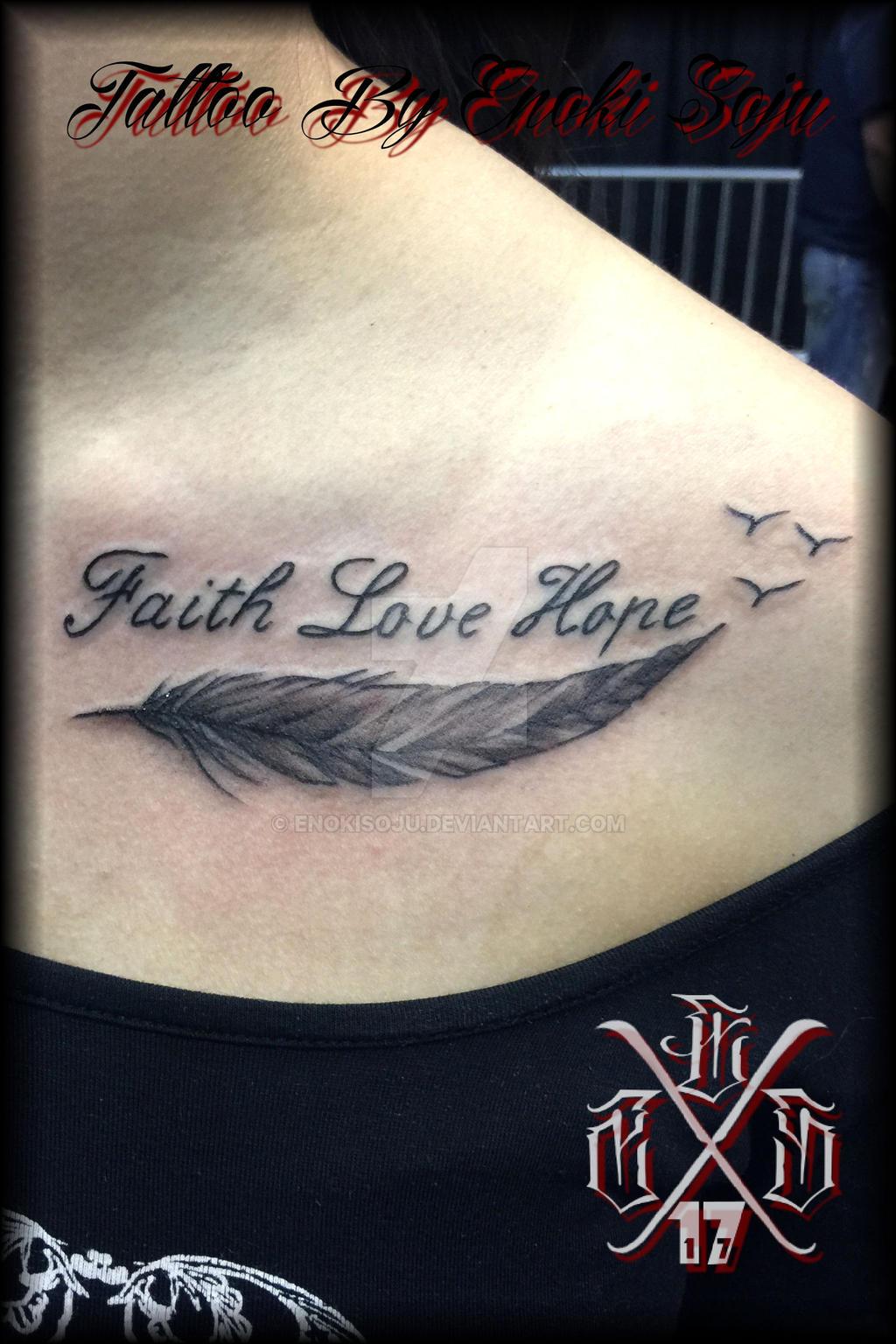 tattoo love hoop faith