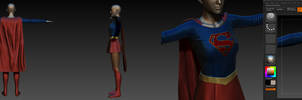 Supergirl suit (The CW) W.I.P
