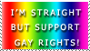 Support Gay Rights Stamp