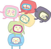 Kawaii Desu Stack People by Preed-Reve