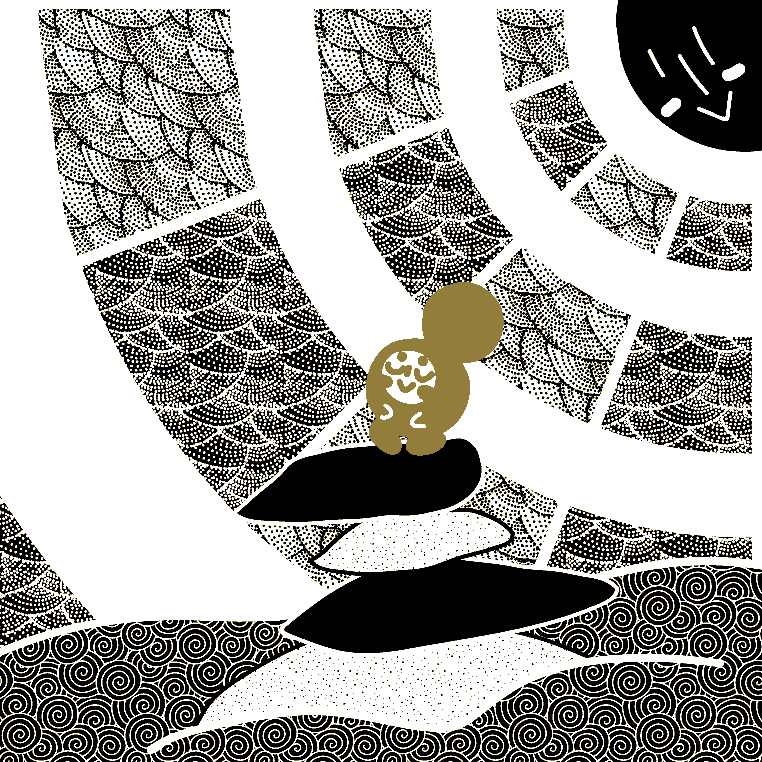 Inktober2018 Vectorized: Day 2 - Tranquil by Preed-Reve