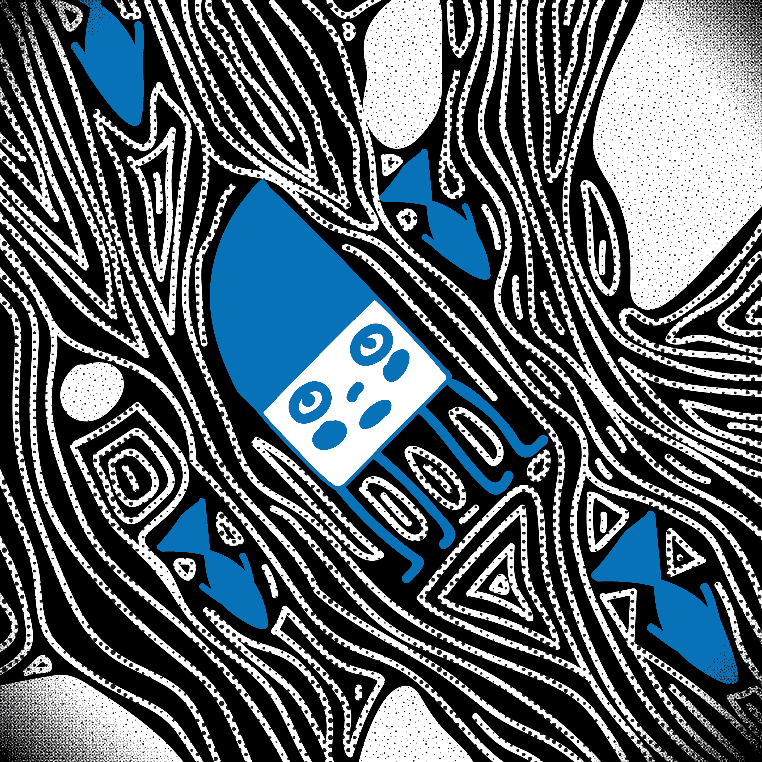 Inktober2018 Vectorized: Day 10 - Flowing by Preed-Reve
