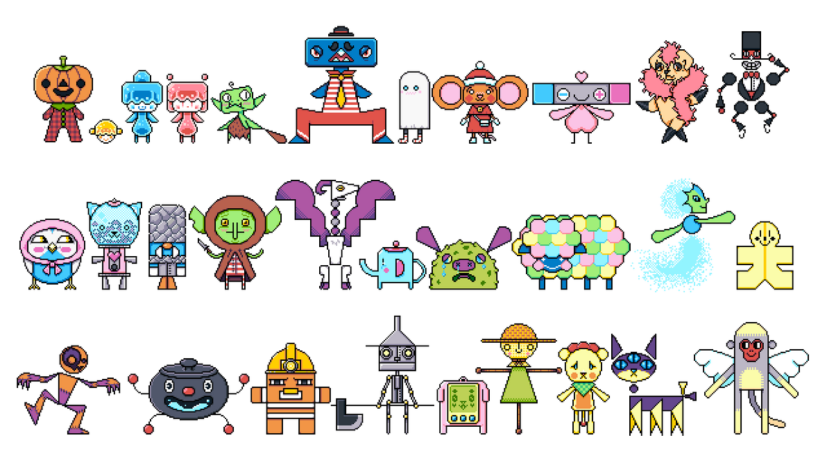 Pixel Creatures by Preed-Reve