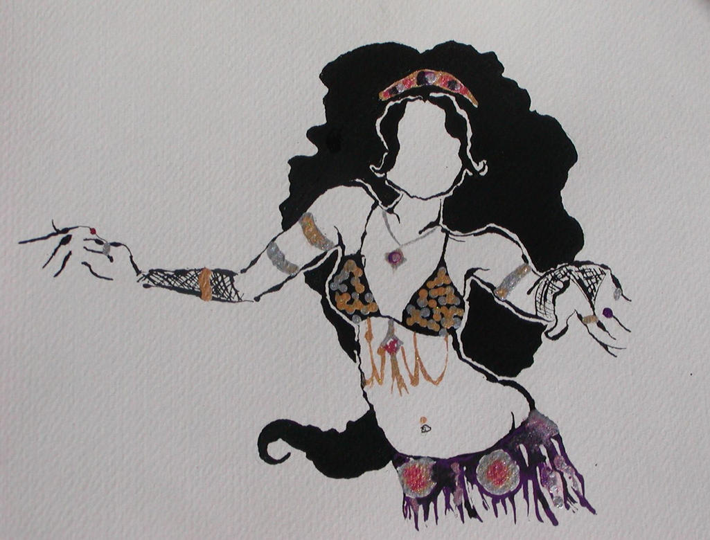 Pin Belly Dancer Drawi...