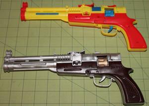 Long barrel cap gun repaint