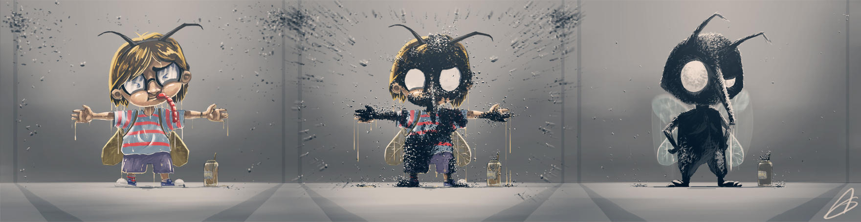 The Transformation challenge - The Fly-Kid by Zeich